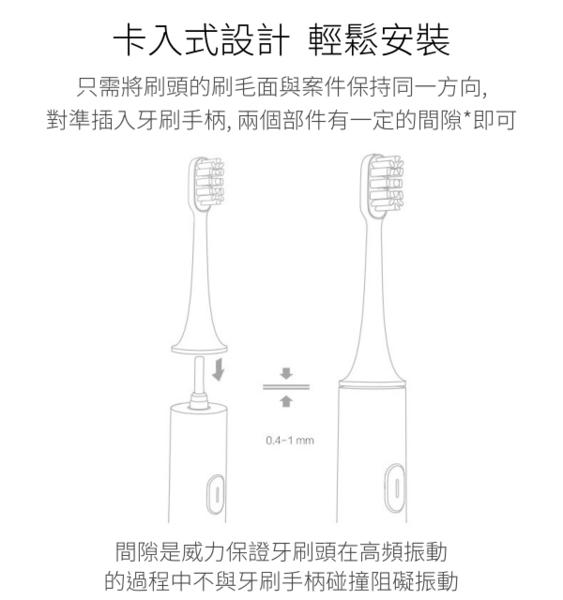 【coni shop】米家聲波電動牙刷頭 通用型 / 敏感型(3支裝) 美國杜邦刷毛 補充裝 電動牙刷