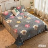 印花毛毯 200X230珊瑚絨床單單件法蘭絨面法萊絨單人冬季雙面加絨被單 FF3825【美好時光】