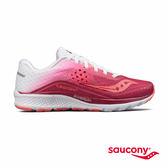 SAUCONY KINVARA 8 專業訓練鞋款-莓果紅x白漸層