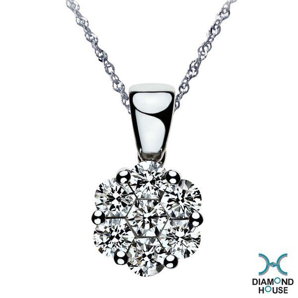 ﹝鑽石屋﹞76分鑽石墜子 花朵造型 DD002158