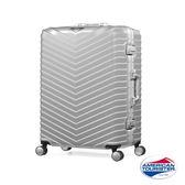 AT美國旅行者 29吋Triangle豪華版防爆鋁框TSA海關鎖行李箱(霧面銀)