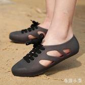 洞洞鞋 女士旅游拖鞋戶外平底涼鞋果凍鞋防水浮潛鞋海邊沙灘鞋 DJ9486『毛菇小象』
