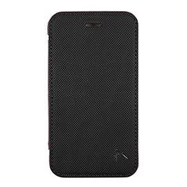 【漢博】Optima iPhone 8 / 7 側掀站立型皮套 針織系列 - 黑