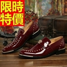 休閒皮鞋精緻簡單-亮面隨意手工樂福男鞋子3色59p9【巴黎精品】