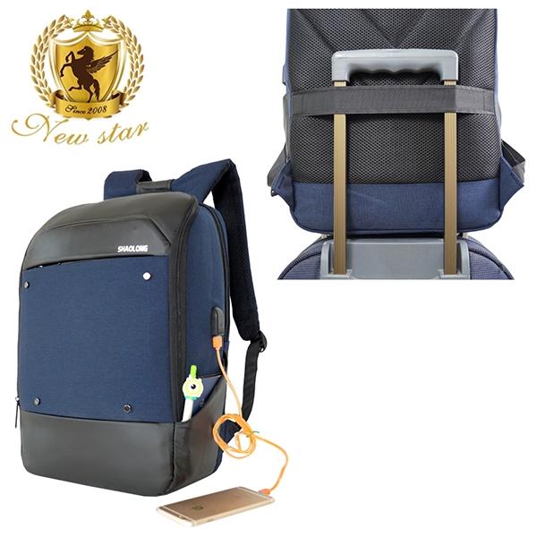 防水雙層充電後背包包(筆電包 大容量 可掛行李箱) NEW STAR BK269