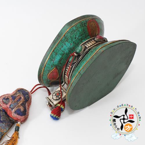 手鼓 十相自在 鑲綠松石  +十相自在貼紙【十方佛教文物】