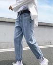 男士牛仔褲2021新款春秋款潮流百搭九分長褲寬松直筒夏季休閑褲子