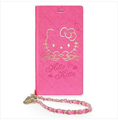 88柑仔店-GARMMA Hello Kitty iPhone 7/6S/6 4.7吋側掀式摺疊皮套-金典桃