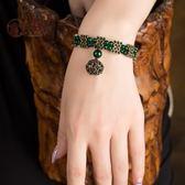 手鍊復古宮廷首飾云南民族風女飾品綠色手珠手串日韓時尚