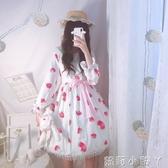 蘿莉裝蘿莉塔裙子蜜桃草莓lolital洛麗塔洋裝日常學生可愛jsk雪紡公主裙 NMS蘿莉小腳丫