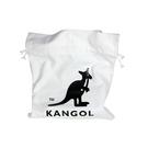 KANGOL 側背包 束口 帆布 白色 6125171100 noC93