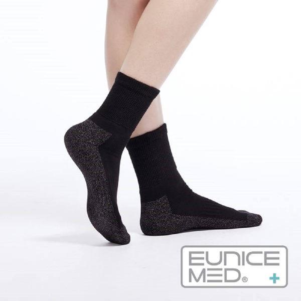 EuniceMed 優妮思 糖尿病足保健襪 銀纖維抗菌 保暖黑色(CPS-4001) 大樹