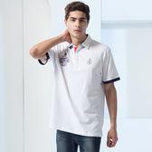 86  白色POLO 衫更能親身體現服裝舒適男人 代言上衣款【86961 10 】