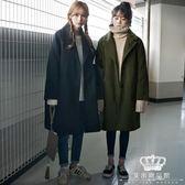 毛呢外套 新款韓版中長款女韓國冬裝學生繭型加厚大衣