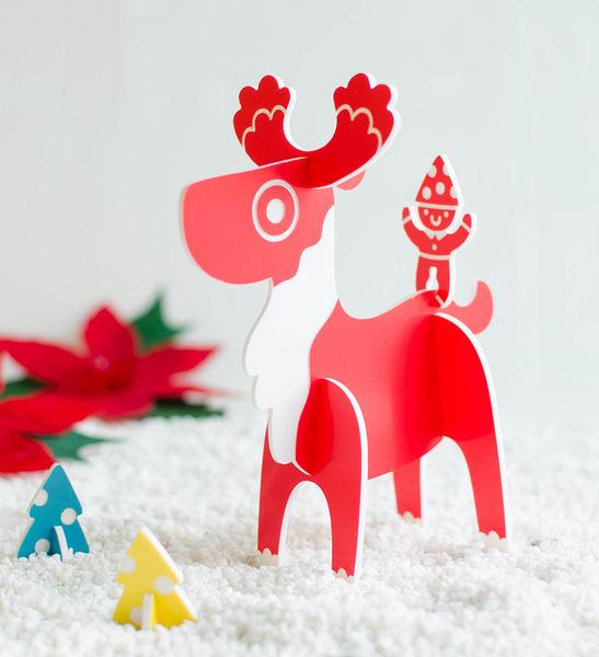 幸福森林【叮叮噹小鹿】客製耶誕節立體卡片