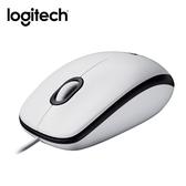 [富廉網] 羅技 Logitech M100r USB有線滑鼠 白色