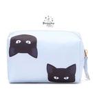 《花花創意会社》外流。黑白猫咪鋪棉化粧收納包【H4924】