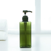 ✭慢思行✭ 【N325】方形按壓分裝瓶450ML 沐浴 替換瓶 旅行 分裝 小巧 浴室 廁所 居家