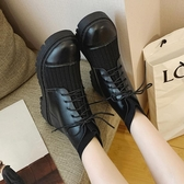 毛線口馬丁靴女秋季新款網紅英倫風百搭平底針織初秋小短靴