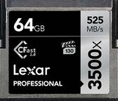 【聖影數位 】Lexar 雷克沙 CF CFast2.0 64G 3500X 讀取525MB/s 寫入375MB/s