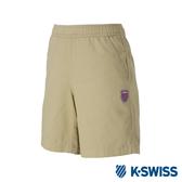 K-SWISS Essential Shorts時尚棉質短褲-女-卡其