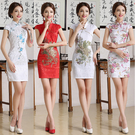 旗袍 改良複古日常旗袍 短款連身裙 性感...