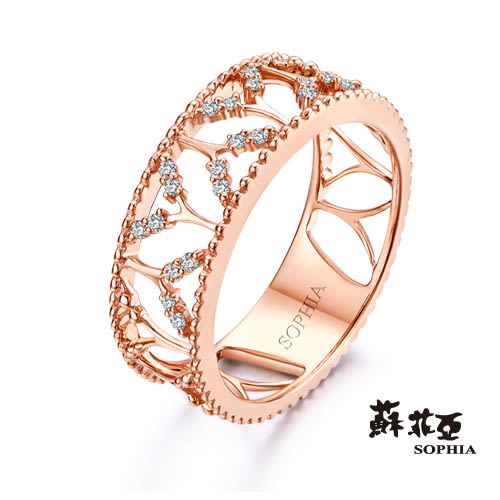 蘇菲亞SOPHIA ROMANTIC系列 鏤空鑽戒