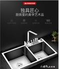 廚房手工雙槽不銹鋼水槽套餐加厚304台上下洗菜盆洗碗洗水池 【全館免運】