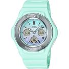 CASIO 卡西歐 Baby-G 天空漸層粉彩手錶-粉綠 BGA-100ST-3A / BGA-100ST-3ADR
