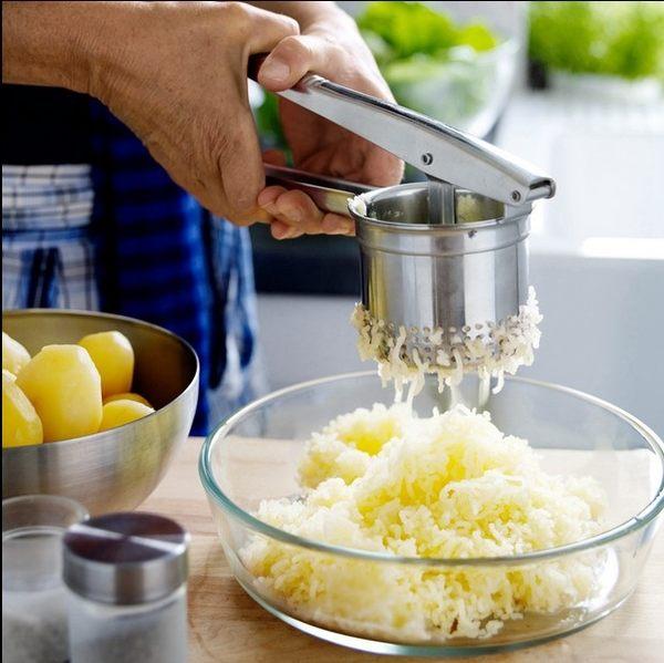 不銹鋼土豆泥壓泥器壓餡菜汁壓薯器