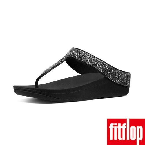 【FitFlop】FINO QUARTZ TOE-THONGS(黑色)