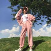 休閒運動套裝女秋冬日韓寬鬆大碼初中學生閨蜜時尚兩件式 森雅誠品