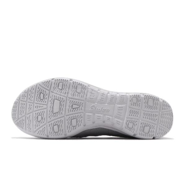 Skechers 休閒鞋 Seager-Umpire 灰 藍 女鞋 透氣鞋面 花邊 健走鞋 【PUMP306】 158011GRY