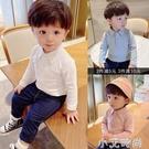 男童嬰兒童翻領上衣長袖t恤加絨打底衫寶寶polo衫體恤純棉秋冬裝 小艾新品