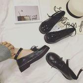 日系原宿復古圓頭英倫學院風鬆糕厚底淺口單鞋 黛尼時尚精品