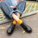 新款小皮鞋女春季英倫復古學生韓版百搭學院風平底ins軟妹鞋  魔法鞋櫃