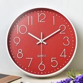時鐘大字體石英鐘靜音鐘客廳立體數字刻度錶壁鐘電池圓形靜音掛鐘慢思行【G011 】