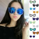 圓框鐳射反光墨鏡 太陽眼鏡 可搭草帽涼鞋長裙洋裝泳裝收納包 歡迎團購批發【RG317】