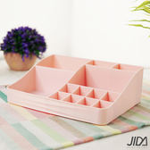【佶之屋】歐風簡約多分格化妝品/口紅桌面收納盒/S櫻花粉