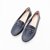 【南紡購物中心】W&M C型釦式增高 樂福鞋 女鞋-丈青藍(另有奶茶棕)