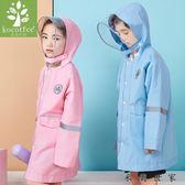 兒童雨衣帶書包位防水男童小學生雨衣