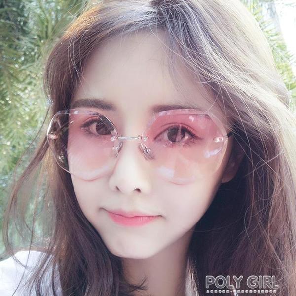 2019新款墨鏡女韓版潮圓臉防紫外線網紅太陽鏡街拍眼鏡明星同款 polygirl
