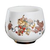 茶杯-羊脂玉瓷浮雕描金茶碗4款74aj29[時尚巴黎]