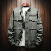 夾克外套 工裝夾克男士大碼韓版寬松休閑棒球服潮流學生百搭外套