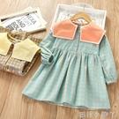 女童洋裝2020春秋新款韓版兒童長袖純棉格子裙子寶寶洋氣公主裙 蘿莉新品
