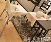 寶貝餐桌椅 兒童餐椅寶寶餐椅便攜式可堆疊寶寶吃飯椅非實木可拆卸DF  免運 維多