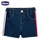chicco-衝浪小熊-脇邊配條織帶牛仔短褲