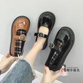 娃娃鞋 單鞋女2018新款百搭韓版平底chic網紅復古大頭娃娃鞋原宿小皮鞋潮 2色35-39