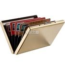 卡包 男士卡包 不銹鋼金屬卡夾 超薄男式RFID防消磁盜刷多卡位信用卡包