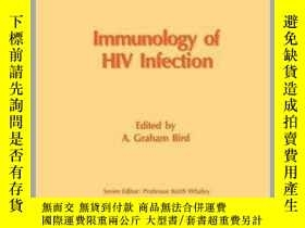 二手書博民逛書店Immunology罕見of HIV Infection-HIV感染免疫學Y361738 A. G. Bird